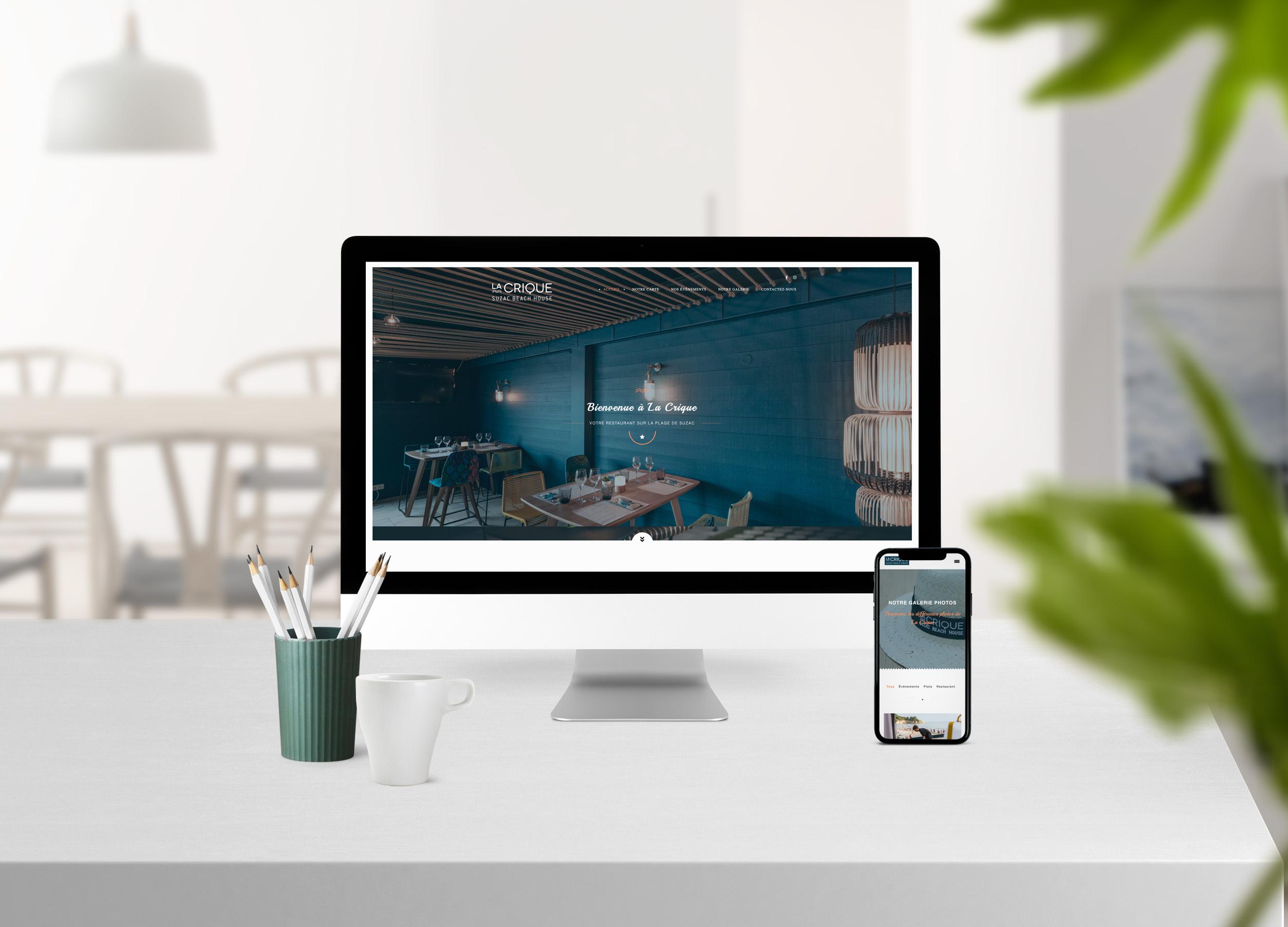 """Site Internet Restaurant """"La Crique"""" post thumbnail"""