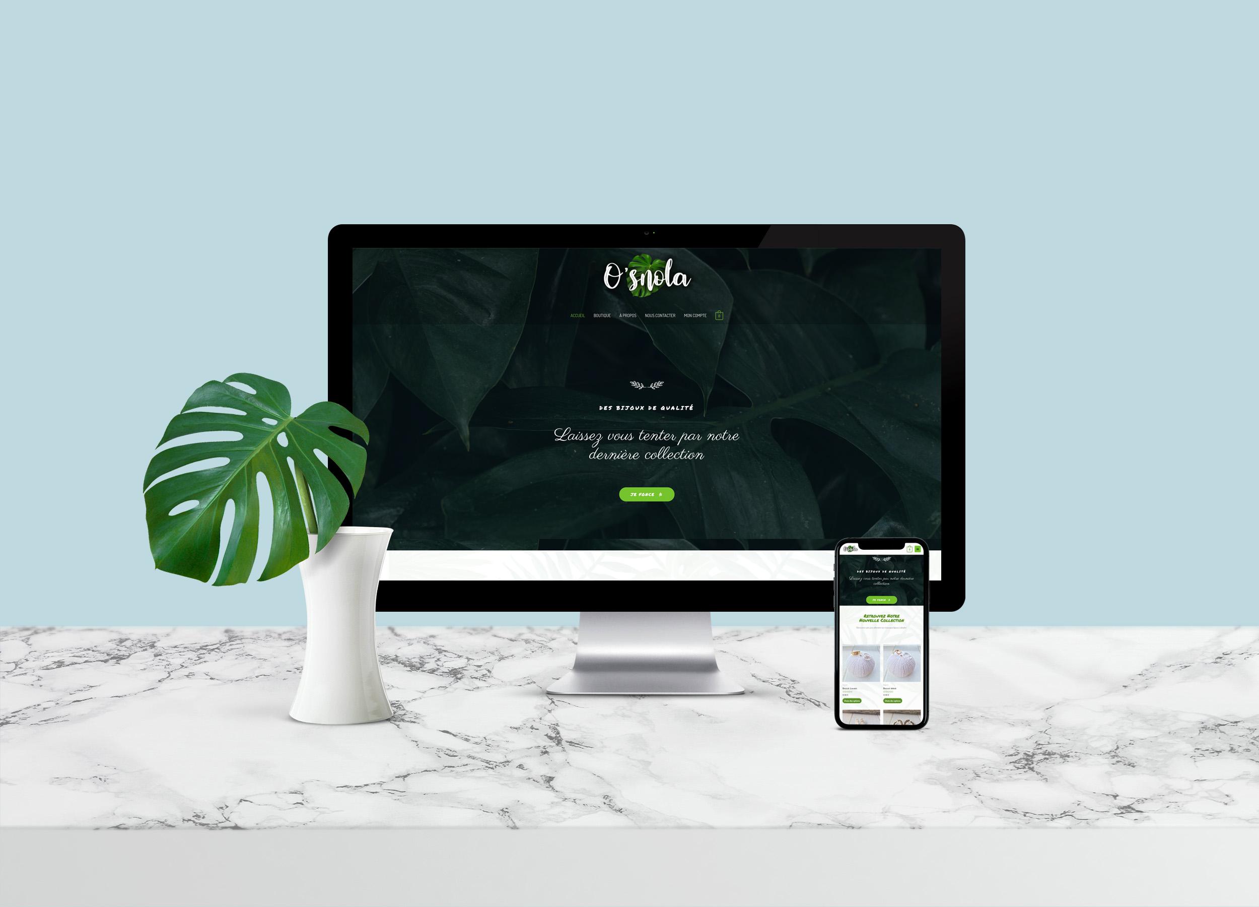 """Site Internet Boutique """"Osnola"""" post thumbnail"""
